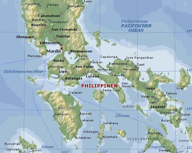Vulkane Philippinen Karte.Philippinen Camiguin Mindoro